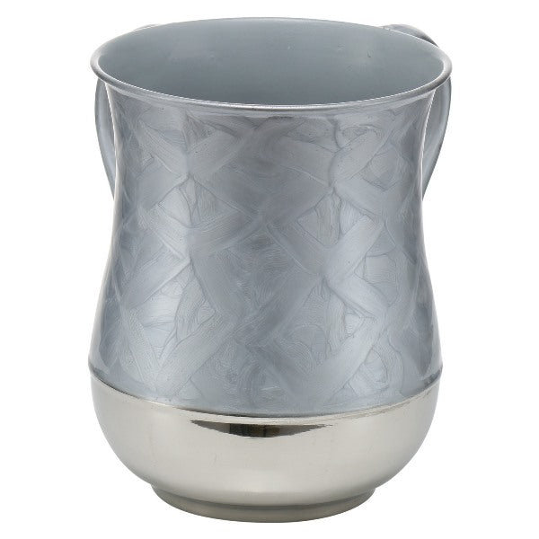 Wash Cup: Stainless Steel - Grey Enamel Texture