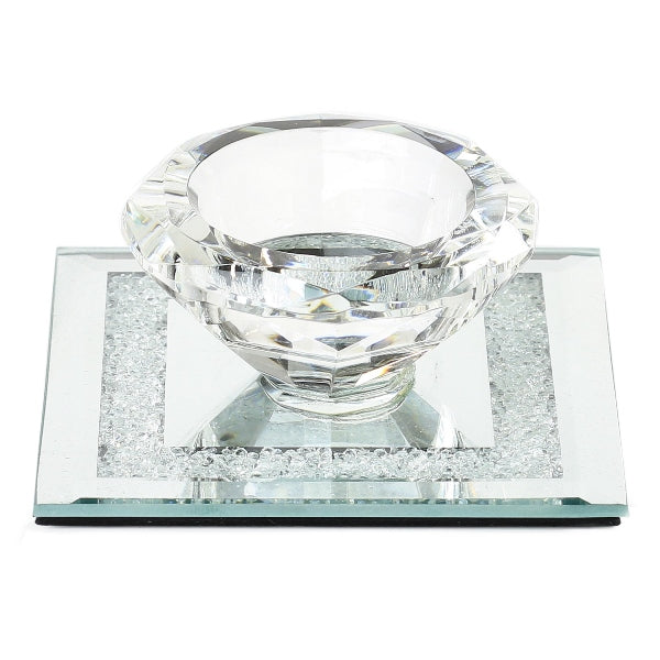 Salt Dish: Crystal & Mirror