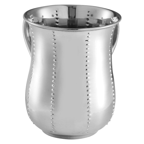 Wash Cup: Stainless Steel Dotted Design