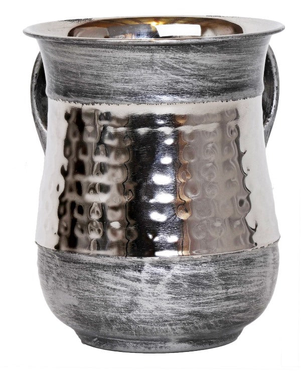 Wash Cup: Stainless Steel Brushed Silver