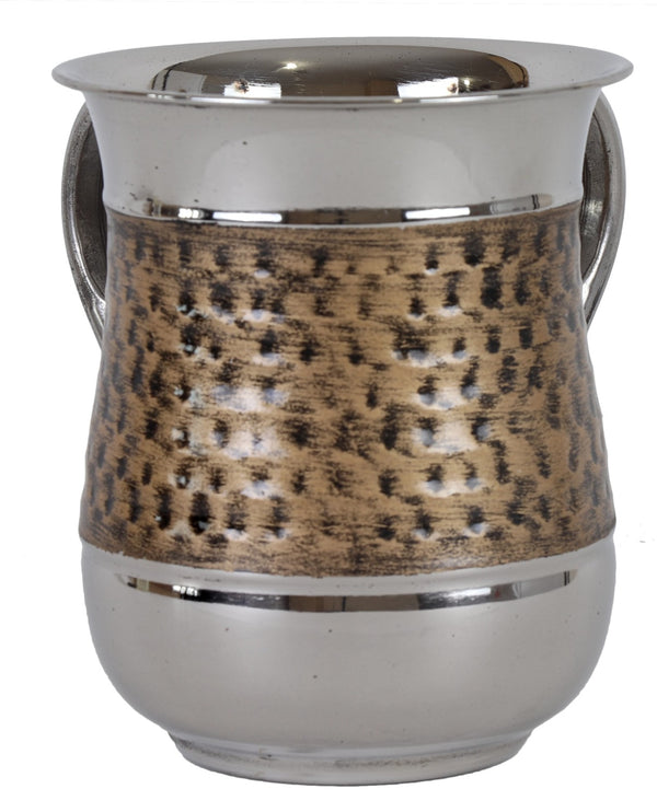 Wash Cup: Stainless Steal Brushed - Gold