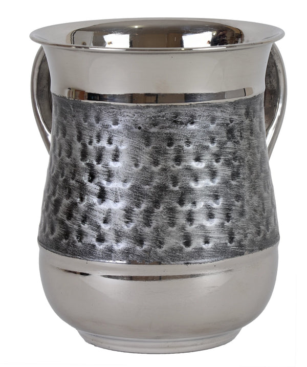 Wash Cup: Stainless Steal Brushed - Silver