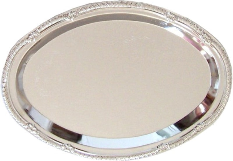 Tray: Oval Nickel Plated