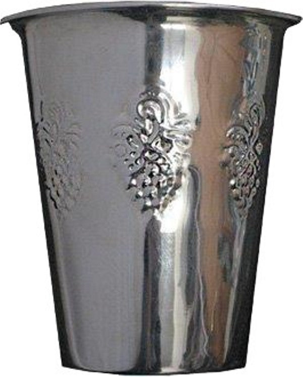 Kiddush Cup: Silver Plated Grape Design