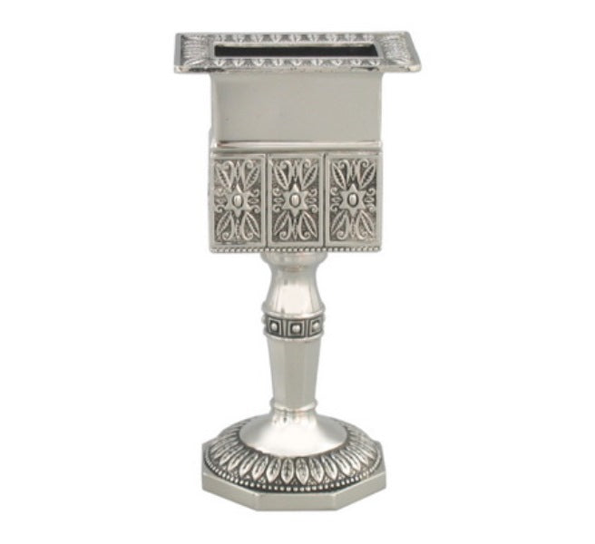 Havdalah Candlestick: Silver Plated - Octagon