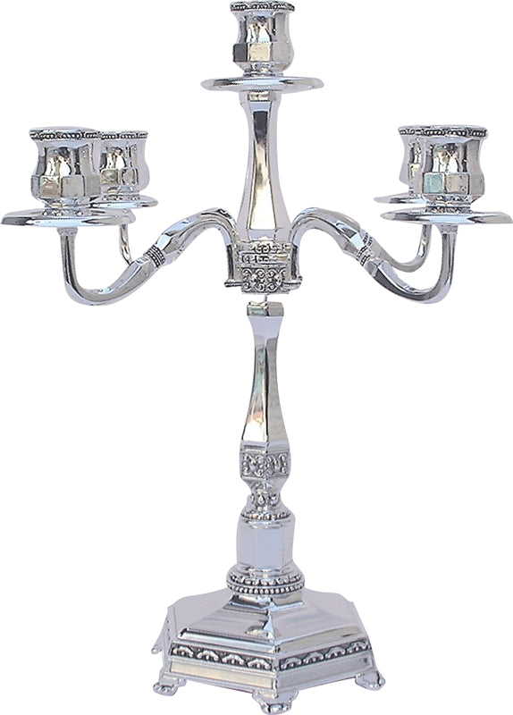 Candelabra: 5 Branch - Nickel Plated