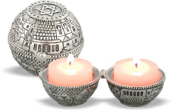 Tealight Holder: Sphere Shaped Jerusalem Design