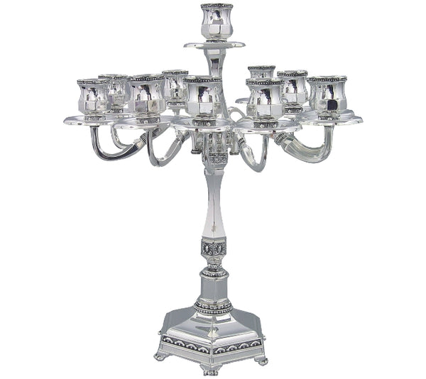 Candelabra: 9 Branch - Nickel Plated
