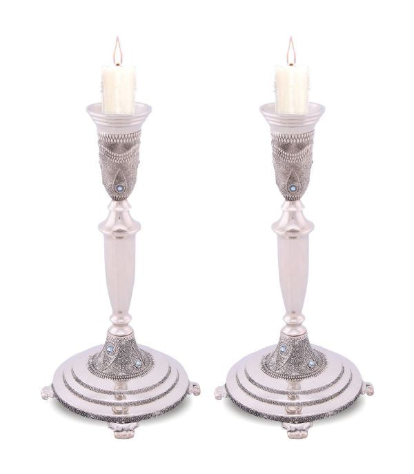 Candlestick Set: Nickel Plated