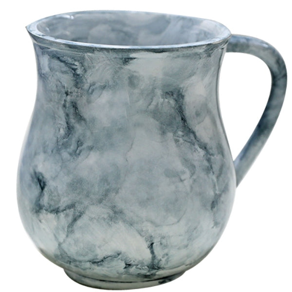 Wash Cup: Poly Marble - Grey & White