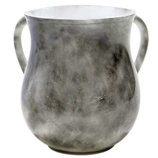 Wash Cup: Poly Marble - Grey & Natural