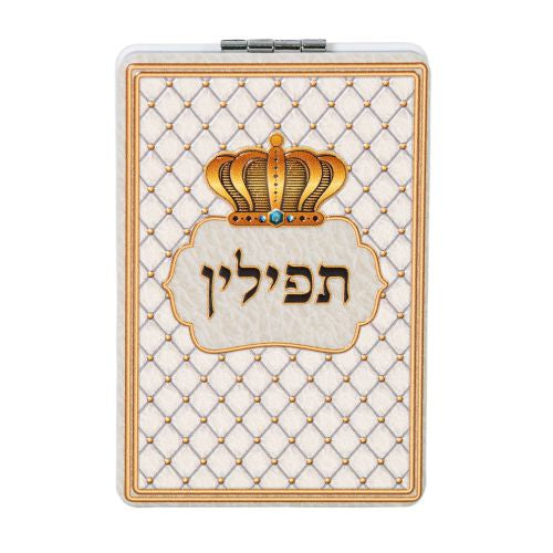 Tefillin Mirror With Crown - White