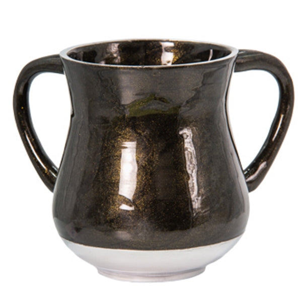Wash Cup: Aluminum Gold Sparkling Dark Green And Black