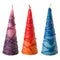 Havdalah Candle: Round Pyramid - Assorted Colors