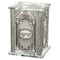 Tzedakah Box: Crystal With Mirror Base and Cruched Glass Design