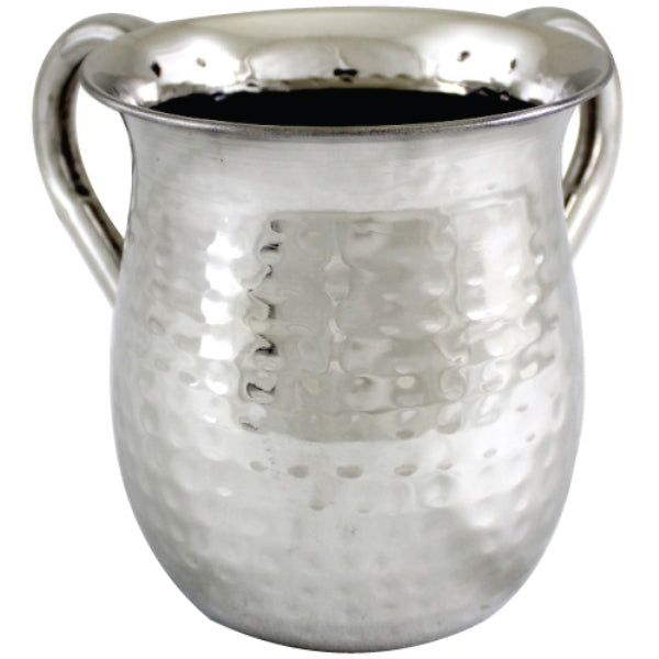 Wash Cup: Stainless Steel Hammered