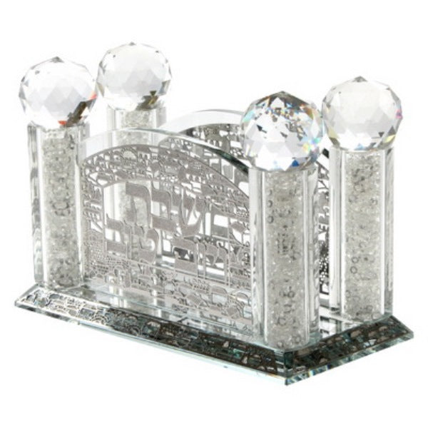 Bencher Holder: Crystal With Silver Plated