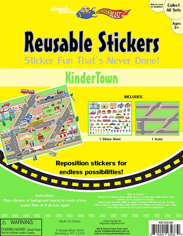 Reusable Stickers - Kinder Town