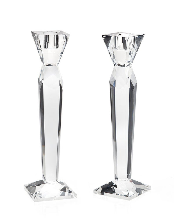 Candlestick Set: Crystal - Prism Design