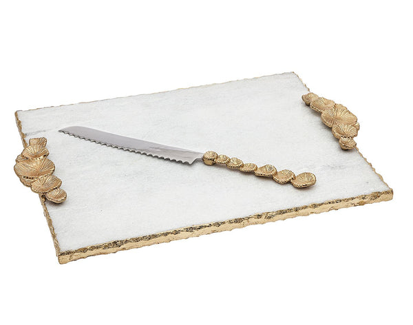 Challah Board & Knife: Mushroom Handle