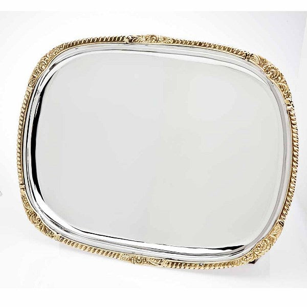 Candlestick Tray: Gold Border
