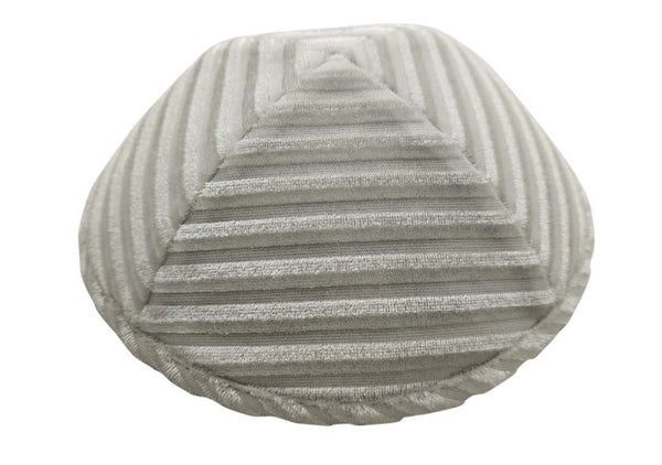 iKippah - Cream Striped Velvet