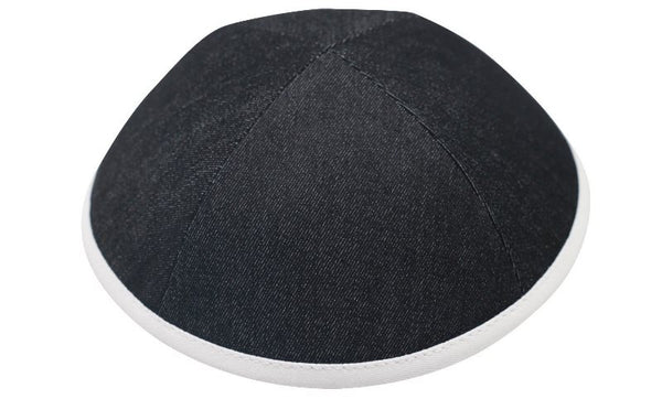 iKippah - Denim Black With White Rim