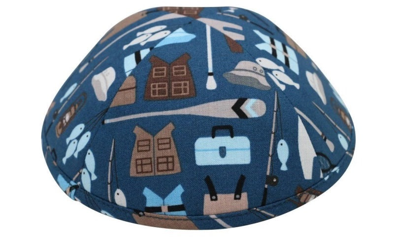 iKippah - Gone Camping Blue