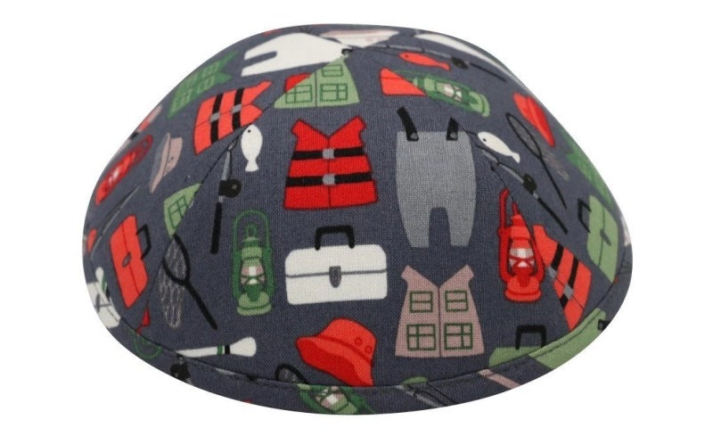 iKippah - Gone Camping Grey