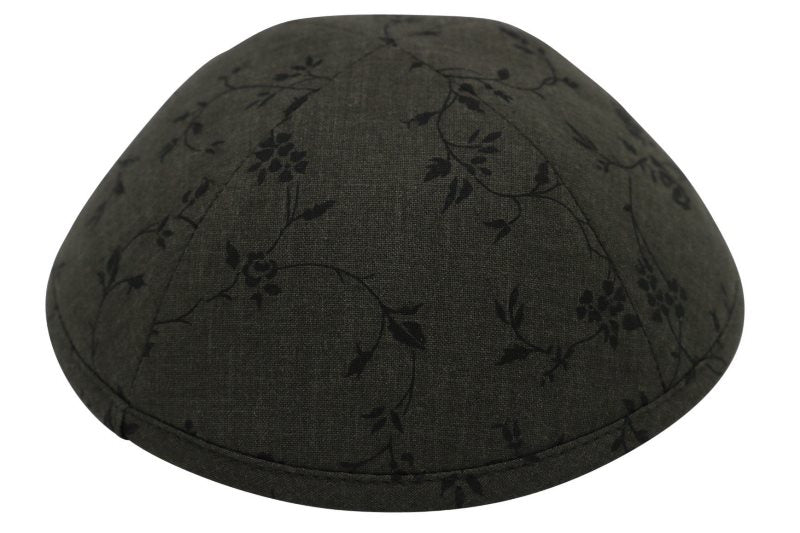iKippah - Nightfall Bloom - Black 4 Part