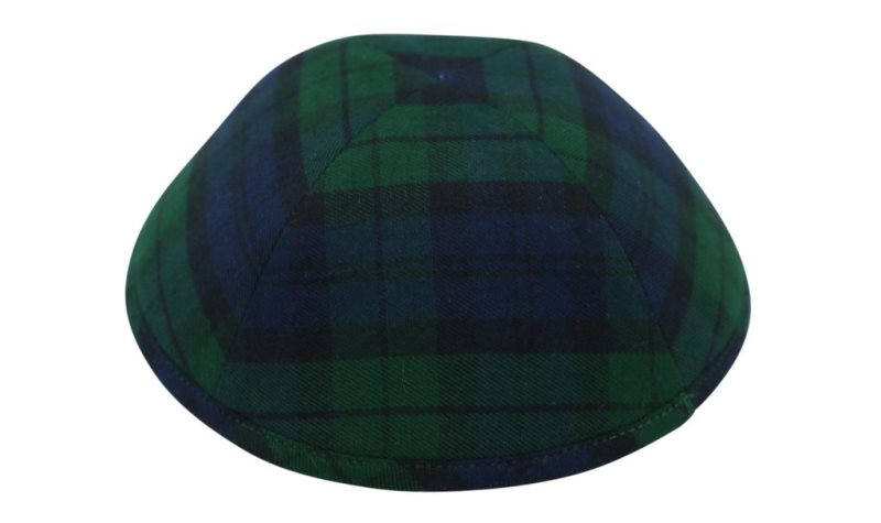 iKippah - Navy & Green Plaid