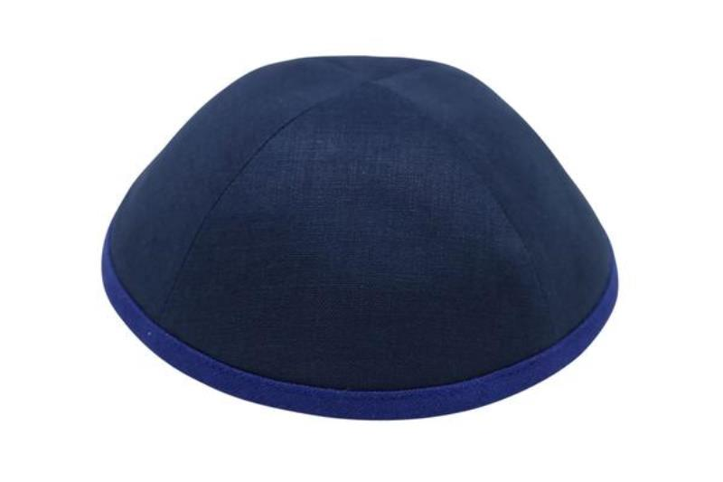 iKippah - Navy With Royal Blue Rim
