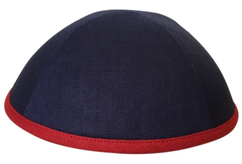 iKippah - Navy With Red Rim