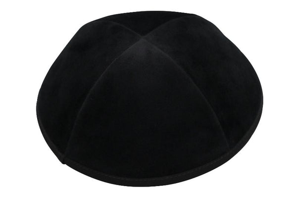 Black Velvet Yarmulka - 4 Parts