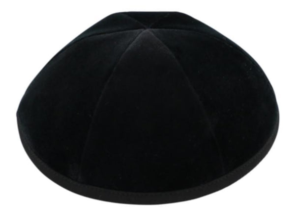 Black Velvet Yarmulka - 6 Parts