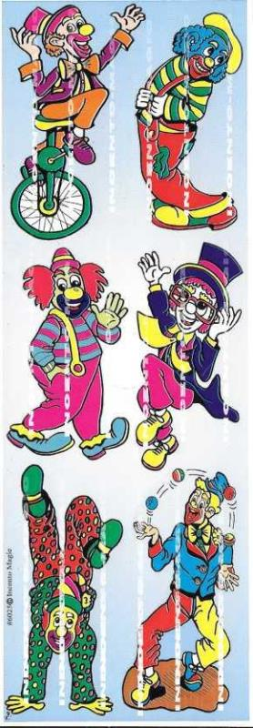 Clown Die Cut Stickers