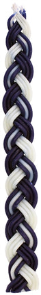 Havdalah Candle: Braided Beeswax - Blue & White