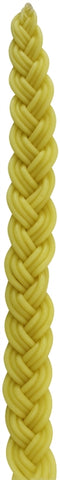 Havdalah Candle: Braided Beeswax - Yellow