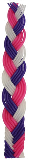 Havdalah Candle: Braided Beeswax - Multicolor