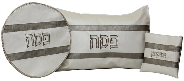Pesach Set: Vinyl #157 Center ##154 Border - 3 Pc Set: Horizontal Stripes Design