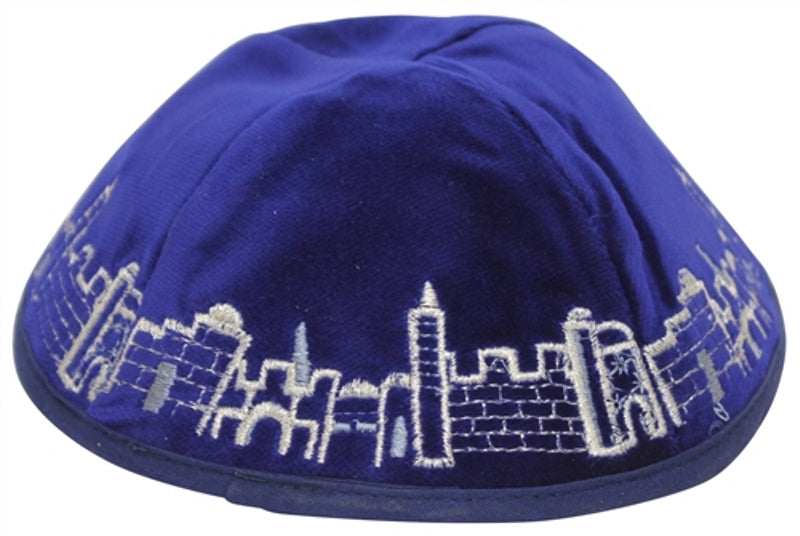 Majestic Giftware - Royal Blue Velvet With Multicolor Embroidery -