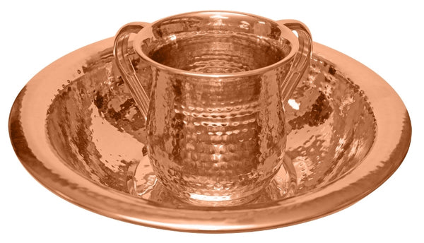 Wash Cup And Bowl: Set Copper