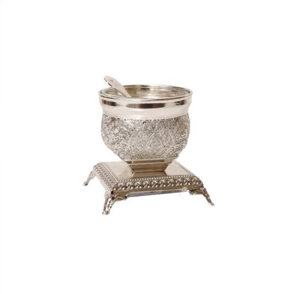 Salt Dish: Silver Plated Filigree Design