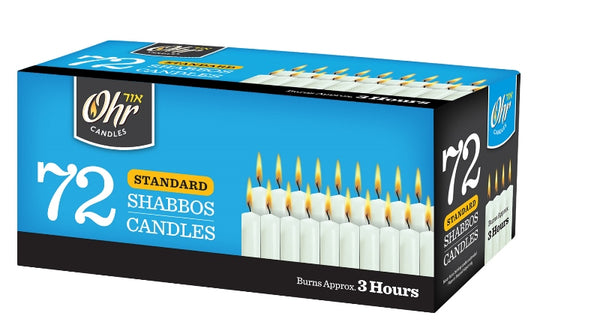 Shabbos Candles - 72 Pack