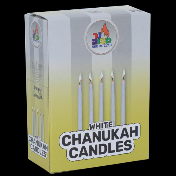 44 Pk. White Chanukah Candles