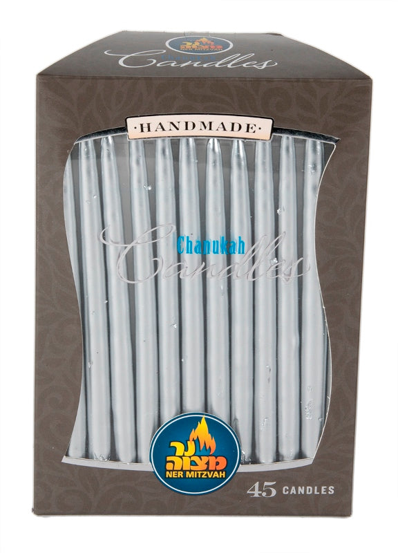 45 Pk. Silver Metallic Chanukah Candle