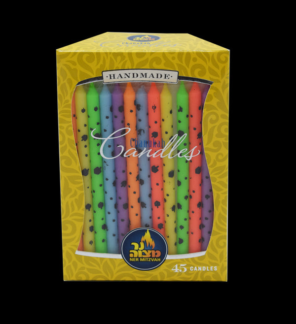 45 Pk. Dreidel Art Chanukah Candles