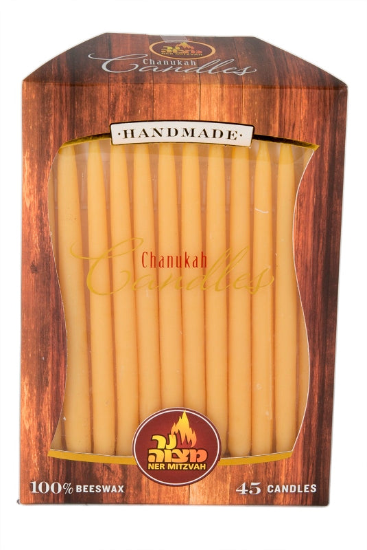 45 Pk. Beeswax Chanukah Candles - Natural