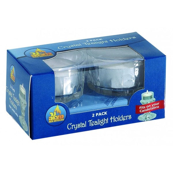 Tealight Holder: Crystal - Fits in Candelabra (2 Pack)