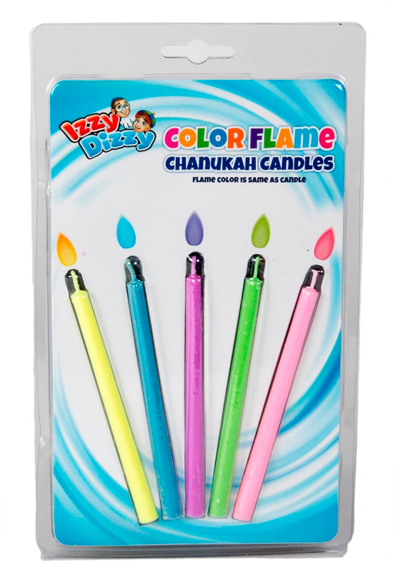 5 Pk. Color Flame Candle